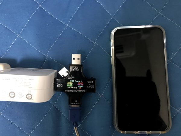 PD充電器検証 iPhone11