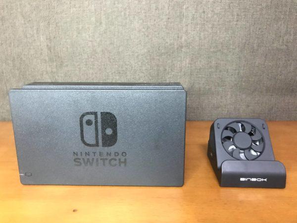 Switch純正ドックと非純正ドック大きさ比較