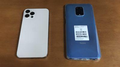 iPhone12 PROとXiaomi Redmi Note 9S